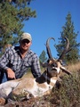 81 2/8 Boone and Crockett buck taken by Riley Morgan in Baker County, Oregon.  2010