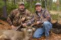Brent and Brian Sackett with Brian's buck!